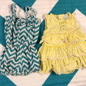 12 month romper and onesie bundle